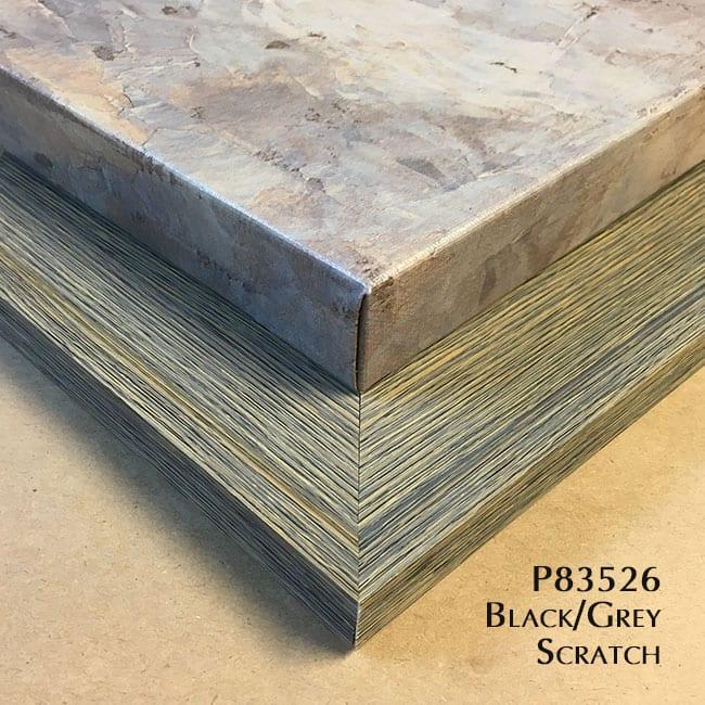 P83526 Black / Grey Scratch
