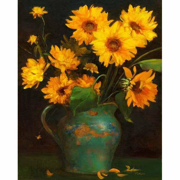Pitcher of Sunflowers SA5175